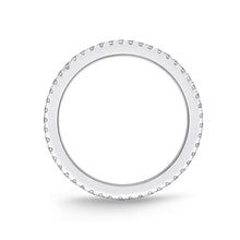 Load image into Gallery viewer, Memoire Diamond Bouquets White Gold Round Bands (0.29 ctw)