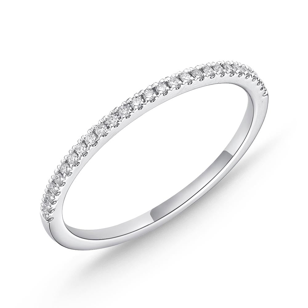 Memoire Diamond Bouquets White Gold Round Bands (0.07 ctw)