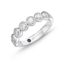 Load image into Gallery viewer, Memoire Toujours White Gold Round Bands (0.76 ctw)