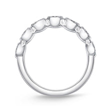 Load image into Gallery viewer, Memoire Toujours White Gold Round Bands (1.01 ctw)