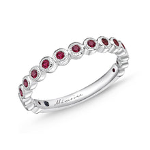 Load image into Gallery viewer, Memoire Toujours White Gold Round Bands