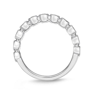 Memoire Toujours White Gold Round Bands (0.26 ctw)