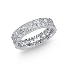 Load image into Gallery viewer, Memoire Eternal Star White Gold Round Bands (2 ctw)
