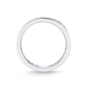 Memoire Eternal Star White Gold Round Bands (2 ctw)