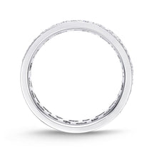 Load image into Gallery viewer, Memoire Eternal Star White Gold Round Bands (3 ctw)