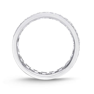 Memoire Eternal Star White Gold Round Bands (3 ctw)