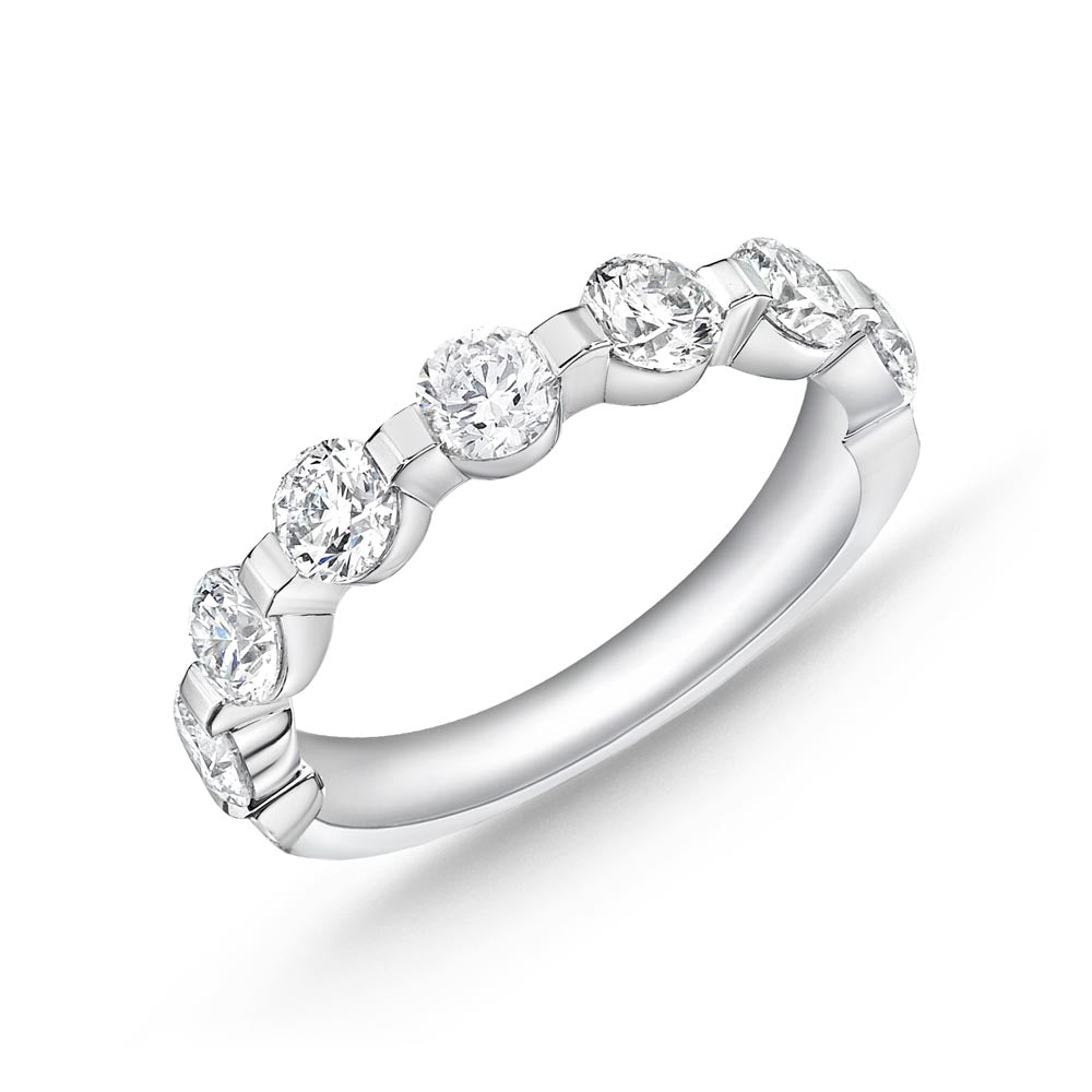 Forevermark Precious Prong White Gold Round Bands (1.51 ctw)