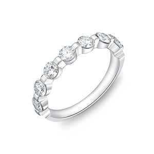 Forevermark Precious Prong White Gold Round Bands (1.08 ctw)