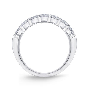 Forevermark Petite Prong White Gold Round Bands (1.08 ctw)