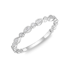 Load image into Gallery viewer, Memoire Stack'em Up White Gold Round Bands|Rings (0.07 ctw)