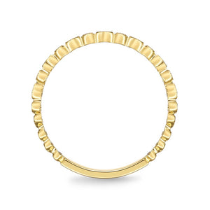 Memoire Stack'em Up Yellow Gold Round Bands|Rings (0.05 ctw)