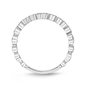 Memoire Stack'em Up White Gold Round Bands|Rings (0.2 ctw)