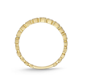 Memoire Stack'em Up Yellow Gold Round Bands|Rings (0.22 ctw)