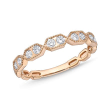 Load image into Gallery viewer, Memoire Stack'em Up Rose Gold Round Bands|Rings (0.31 ctw)