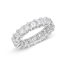 Load image into Gallery viewer, Memoire U-basket White Gold Princess Bands (5.93 ctw)