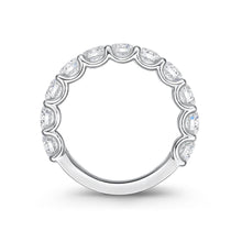Load image into Gallery viewer, Memoire U-basket White Gold Round Bands (2.55 ctw)