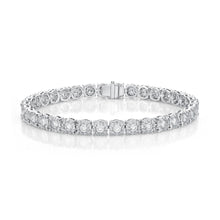 Load image into Gallery viewer, Memoire Diamond Bouquets White Gold Round Diamond Bracelet (4.15 ctw)