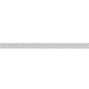 Memoire Diamond Bouquets White Gold Round Diamond Bracelet (4.15 ctw)
