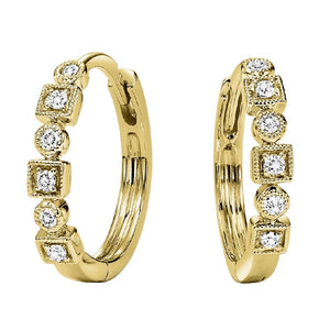 10K Diamond Mixable Earring (0.12 CTW)