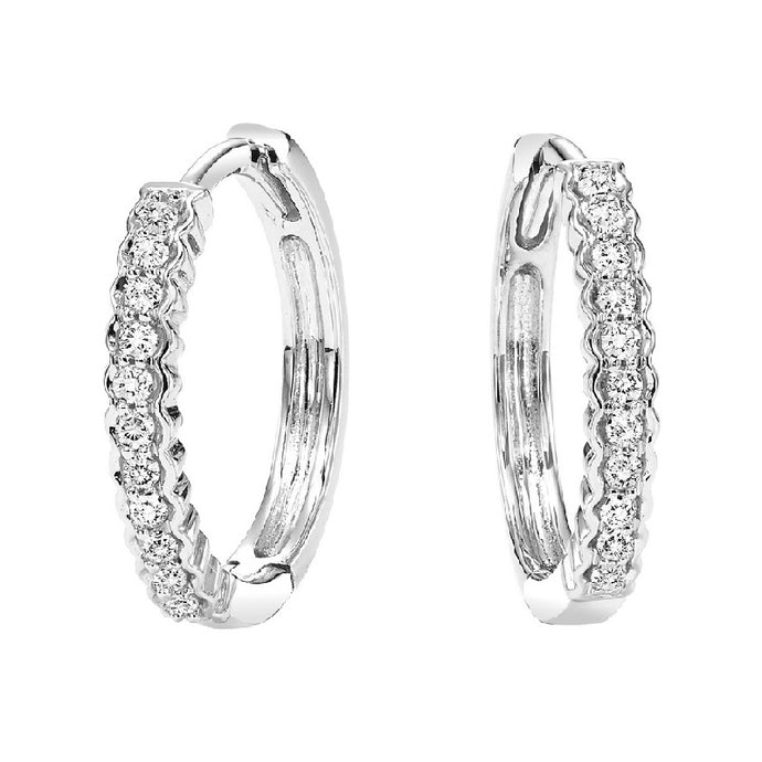 10K Diamond Mixable Earring (0.14 CTW)