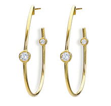 Load image into Gallery viewer, Jade Trau by Forevermark Duet Hoops (0.40 CTW)
