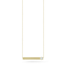 Load image into Gallery viewer, Jade Trau by Forevermark Nameplate Pendant (0.15 CTW)
