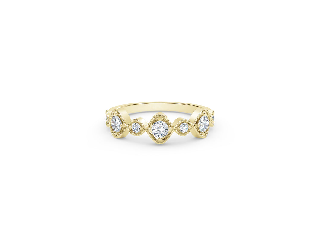 The Forevermark Tribute™ Collection Vintage Stackable Ring