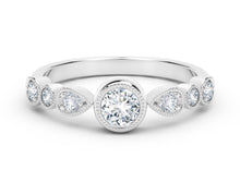 Load image into Gallery viewer, The Forevermark Tribute™ Collection Delicate Stackable Diamond Ring