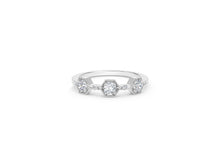 Load image into Gallery viewer, The Forevermark Tribute™ Collection Three Stone Diamond Ring