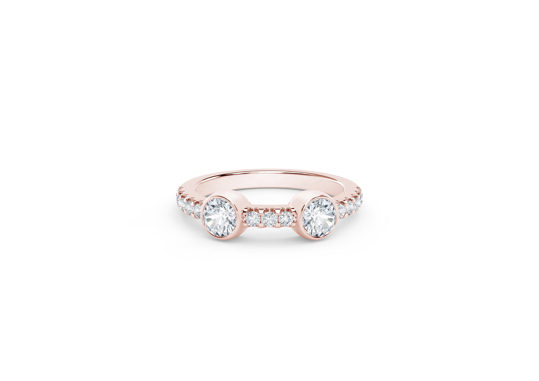 The Forevermark Tribute™ Collection Two Stone Diamond Ring
