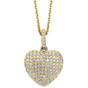 Yellow Silver Heart Pendant (0.10 CTW)