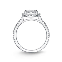 Load image into Gallery viewer, Memoire Diamond Bouquets White Gold Round Engagement Rings (0.94 ctw)