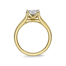 Load image into Gallery viewer, Memoire Diamond Bouquets Yellow Gold Round Engagement Rings (0.49 ctw)