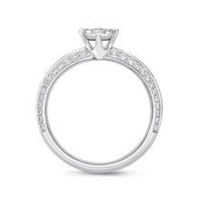 Load image into Gallery viewer, Memoire Diamond Bouquets White Gold Round Engagement Rings (0.51 ctw)