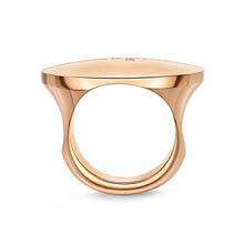 Load image into Gallery viewer, Memoire L Collection Rose Gold Round Diamond Rings (0.13 ctw)