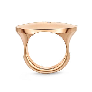 Memoire L Collection Rose Gold Round Diamond Rings (0.13 ctw)