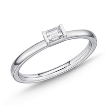 Load image into Gallery viewer, Memoire Stack'em Up White Gold Baguette Diamond Rings (0.17 ctw)