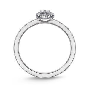Memoire Stack'em Up White Gold Round Diamond Rings (0.07 ctw)