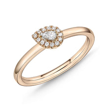 Load image into Gallery viewer, Memoire Stack'em Up Rose Gold Pear Diamond Rings (0.08 ctw)