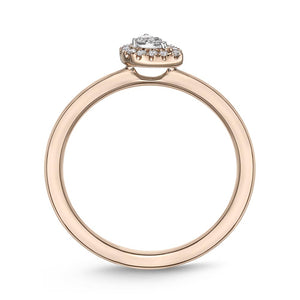 Memoire Stack'em Up Rose Gold Pear Diamond Rings (0.08 ctw)