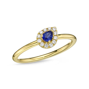 Memoire Stack'em Up Yellow Gold Round Diamond Rings (0.08 ctw)