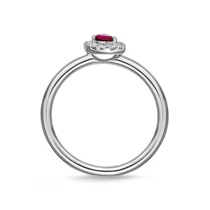 Memoire Stack'em Up White Gold Round Diamond Rings (0.09 ctw)