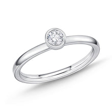 Load image into Gallery viewer, Memoire Stack'em Up White Gold Round Diamond Rings (0.16 ctw)