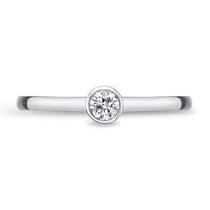 Memoire Stack'em Up White Gold Round Diamond Rings (0.16 ctw)