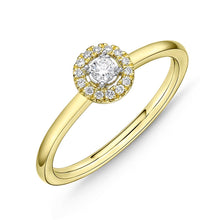 Load image into Gallery viewer, Memoire Stack'em Up Yellow Gold Round Diamond Rings (0.1 ctw)
