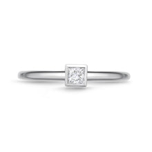 Load image into Gallery viewer, Memoire Stack'em Up White Gold Princess Diamond Rings (0.15 ctw)
