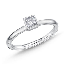 Load image into Gallery viewer, Memoire Stack'em Up White Gold Princess Diamond Rings (0.3 ctw)