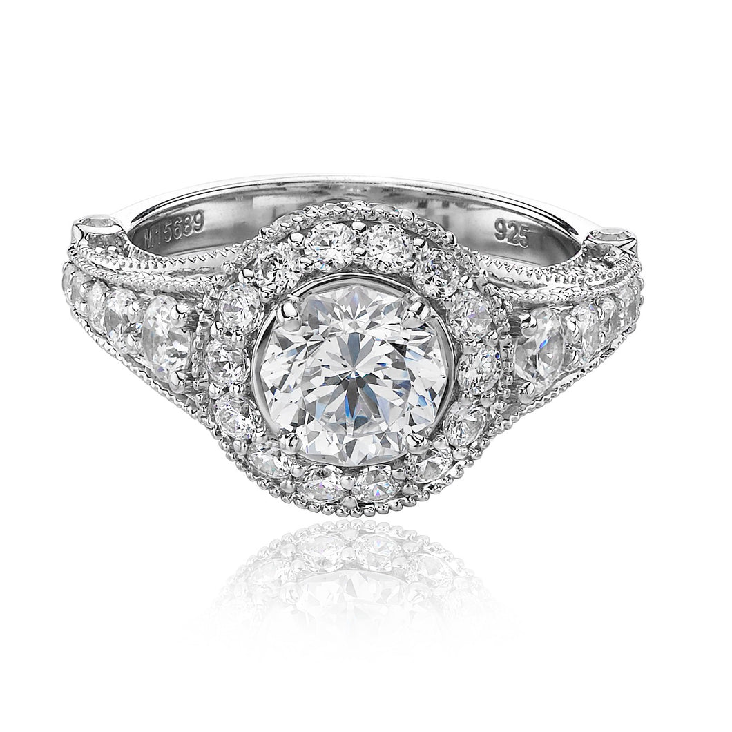 Christopher Designs Crisscut Engagement Ring (1.39 CTW)