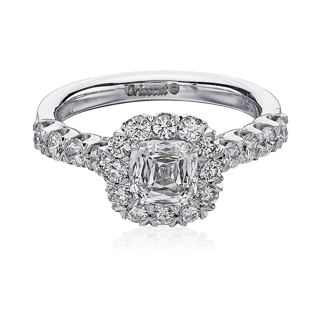 Christopher Designs Crisscut Engagement Ring (0.83 CTW)