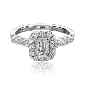 Christopher Designs Crisscut Engagement Ring (0.81 CTW)